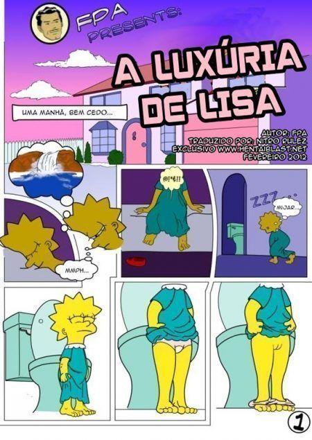 Incesto entre irmãos – Lisa fazendo sexo com Bart, Simpsons