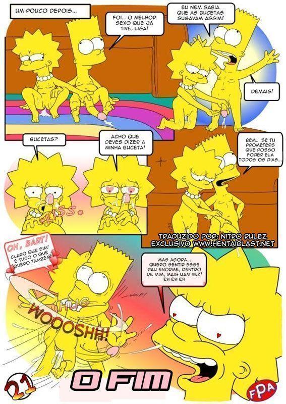 Simpson los y con porno bart lisa