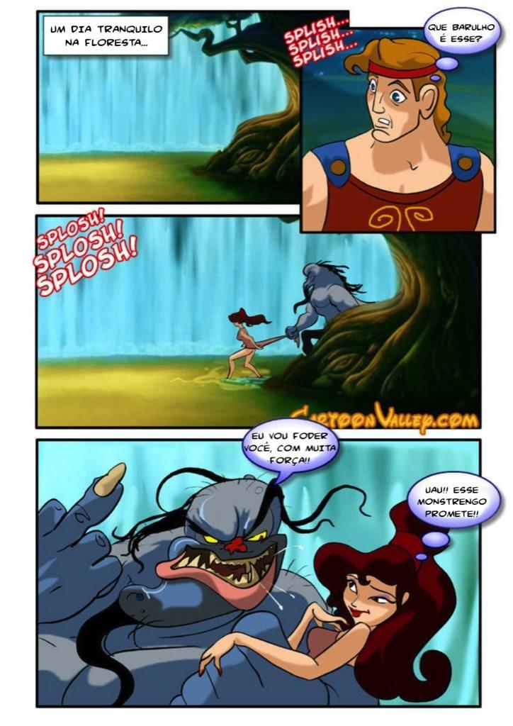 Quadrinho Erótico do Hércules – Disney Hentai