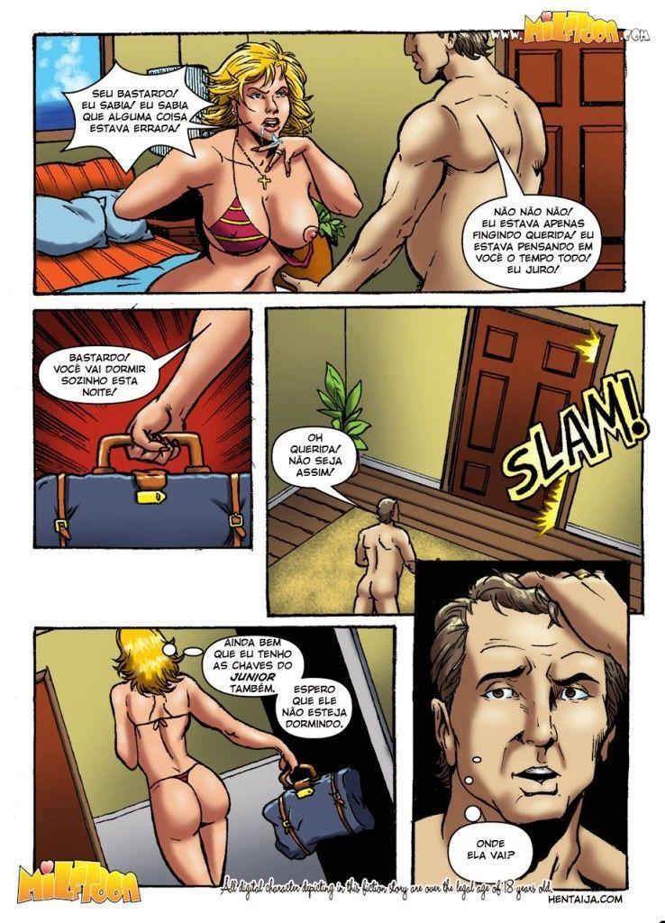 Quadrinho de sexo de foda gostosa com mamãe safada gostosa no hotel hentai
